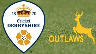 Derbyshire v Nottinghamshire badges