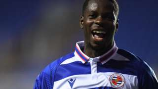 Reading striker Lucas Joao celebrates his goal against Wycombe