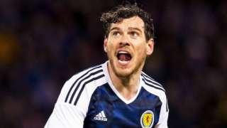 Gordon Greer playing for Scotland
