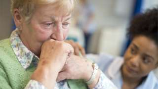 Woman in a nursing home