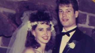 Paul Summers and his wife Monica on their wedding day