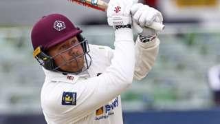 Adam Rossington bats for Northants