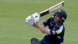 Adam Lyth hit 15 fours and two sixes on the way to his unbeaten 132 for Yorkshire against Leicestershire