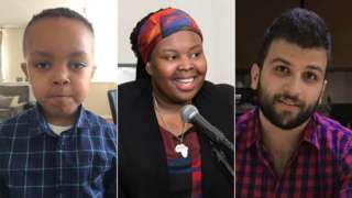 Isaac Shawo, Khadija Saye and Mohammed Alhajali