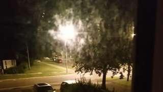 Street light outside Helena Bowie's house