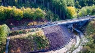 Repairs at scene of August's derailment