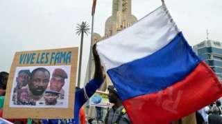Акция в поддержку хунты в Мали