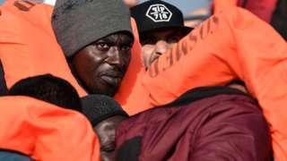 Migrants on Aquarius