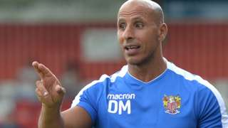 Stevenage manager Dino Maamria