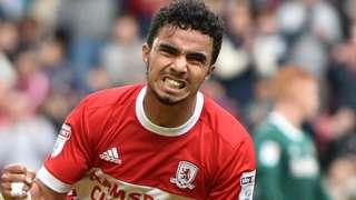 Fabio celebrates for Middlesbrough