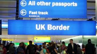 Border checks at Heathrow Airport