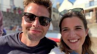 Rebecca Gale and her husband, Chris