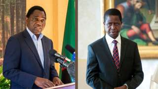 Latest election results in Zambia: Electoral commission of Zambia update on who go win 2021 election between Edgar Lungu vs Hakainde Hichilem