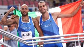 Lamont Marcell Jacobs ile Gianmarco Tamberi