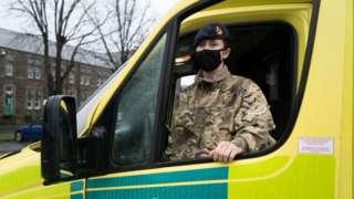 soldier in ambulance