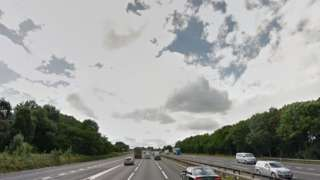 M6 near Corley services