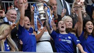 Chelsea Ladies lift the Women's FA Cup
