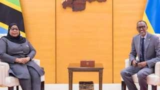 Samia Suluhu na Paul Kagame baganiriye ku bireba ibihugu byabo, ibireba akarere n'ahandi.