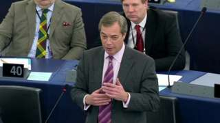 Nigel Farage speaking in European Parliament