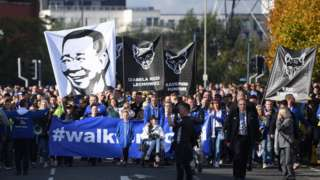 March past the King Power stadium
