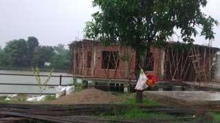 पोखरीमा निर्मित वडा कार्यलयको भवन