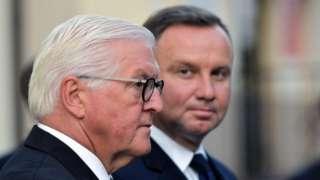 German President Frank-Walter Steinmeier asked Poland's forgiveness for World War Two