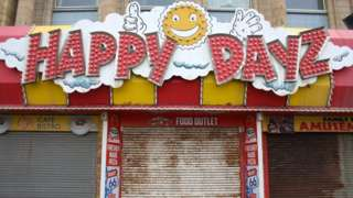 Closed shop on Blackpool promenade