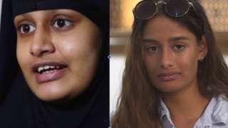 Shamima Begum em 2019 e hoje