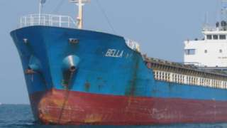 A picture of the Bella vessel - one of four that oil was seized from