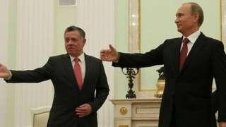 Ürdün Kralı Abdullah ve Rusya Devlet Başkanı Vladimir Putin (2 Ekim 2014)