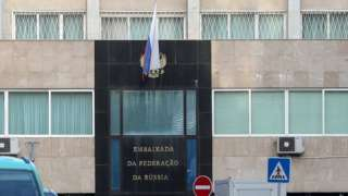 Russian embassy in Lisbon, Portugal. File photo