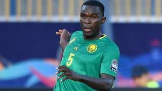 Michael Ngadeu-Ngadjui in action for Cameroon