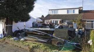 rubble in back garden