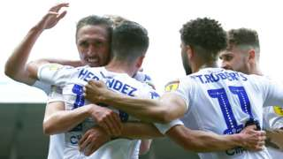 Leeds celebrate.