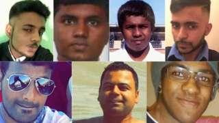 Clockwise, from top left: Kenugen Saththiyanathan, Kobikanthan Saththiyanathan, Nitharsan Ravi, Inthushan Sriskantharasa, Silva Da Cruz, Mohit Dupar and Gurushanth Srithavarajah