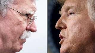 John Bolton (left) and Donald Trump