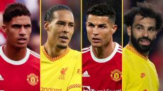 Raphael Varane, Virgil van Dijk, Cristiano Ronaldo & Mohamed Salah