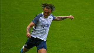 Jamie Thomas featured in North End's pre-season friendly with Wigan Athletic