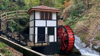 Groudle Glen Waterwheel and wheelhouse
