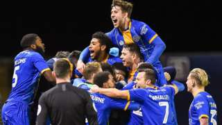 Shrewsbury Town defender Aaron Pierre's third-round replay matchwinner against Bristol City came in the 89th minute