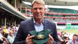 Shane Warne and his 'baggy green' Test cap