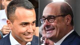 Five Star leader Luigi Di Maio and D Leader Nicola Zingaretti