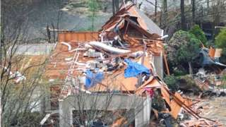 A destroyed house in in Hoover, Alabama. Photo: 25 March 2021