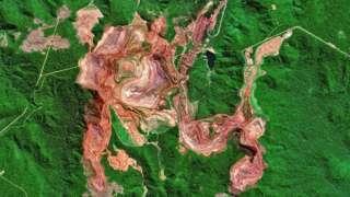 стаелитски снимци рудника у бразилу