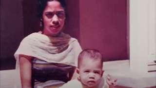 Baby Kamala with Shyamala Gopalan