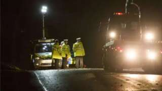 Police at scene of crash on A284 in Arundel, West Sussex