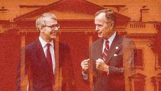 George HW Bush and John Major