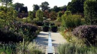A water feature at RHS Garden Bridgewater in Salford