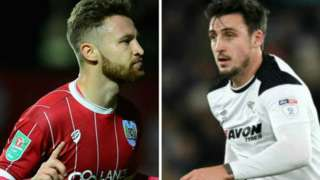 Matty Taylor (left) and George Thorne