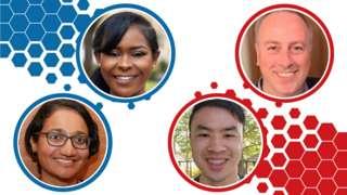 Composite image of four voter portraits